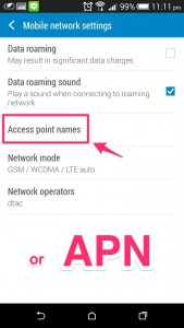 Find APN or Access Point Name